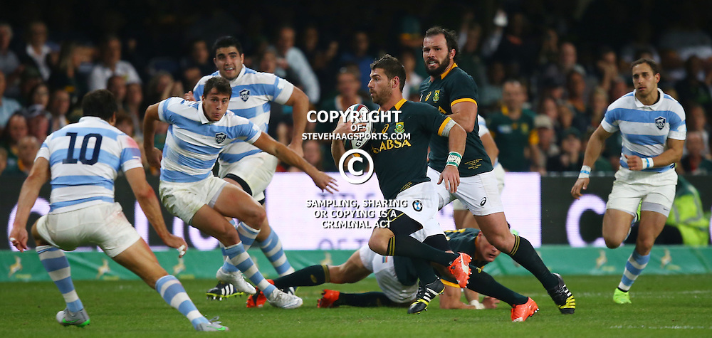DURBAN, SOUTH AFRICA - AUGUST 08: Willie le Roux of South Africa during The Castle Lager Rugby Championship 2015 match between South Africa and Argentina at Growthpoint Kings Park on August 08, 2015 in Durban, South Africa. (Photo by Steve Haag/Gallo Images)