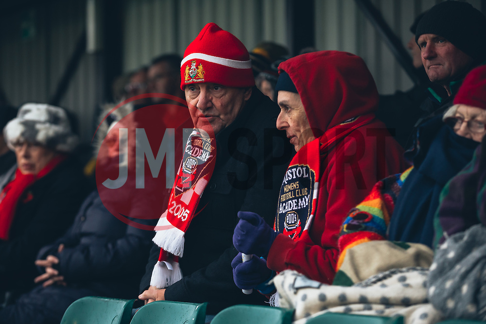 Bristol City Women supporters brave the cold - Rogan Thomson/JMP - 06/11/2016 - FOOTBALL - The Northcourt Stadium - Abingdon-on-Thames, England - Oxford United Women v Bristol City Women - FA Women's Super League 2.