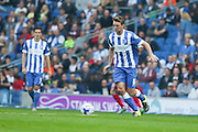 Brighton central midfielder, Dale Stephens goalscorer on the ball during the Sky Bet Championship match between Brighton and Hove Albion and Cardiff City at the American Express Community Stadium, Brighton and Hove, England on 3 October 2015. Photo by Phil Duncan.