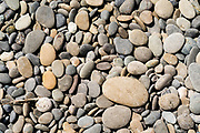 Rocks on the beach,  Rialto Beach, Olympic National Park, Washington, USA.