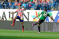Atletico de Madrid´s Fernando Torres and Athletic Club´s Xabier Etxeita during 2014-15 La Liga match between Atletico de Madrid and Athletic Club at Vicente Calderon stadium in Madrid, Spain. May 02, 2015. (ALTERPHOTOS/Luis Fernandez)
