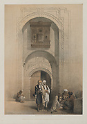 Egypt and Nubia, Volume III: Modern Mansion, showing the Arabesque Architecture of Cairo, 1849. Louis Haghe (British, 1806-1885), F.G.Moon, 20 Threadneedle Street, London, after David Roberts (British, 1796-1864). Color lithograph; sheet: 60.3 x 43.8 cm (23 3/4 x 17 1/4 in.); image: 49.9 x 35.1 cm (19 5/8 x 13 13/16 in.). The Cleveland Museum of Art, Bequest of John Bonebrake 2012.171