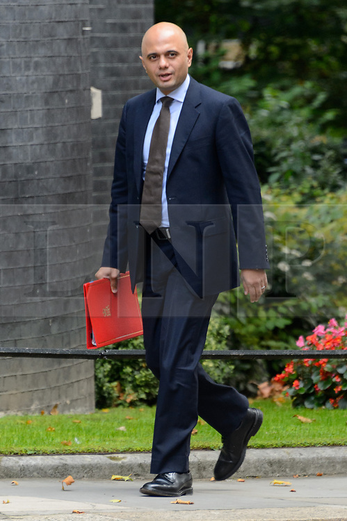 © Licensed to London News Pictures. 21/09/2017. London, UK. Secretary of State for Communities and Local Government SAJID JAVID arrives for a cabinet meeting in Downing Street. Photo credit: Ray Tang/LNP