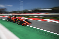 May 11, 2018 - Barcelona, Catalonia, Spain - KIMI RAIKKONEN (FIN) drives during the second practice session of the Spanish GP at Circuit de Catalunya in his Ferrari SF-71H (Credit Image: © Matthias Oesterle via ZUMA Wire)