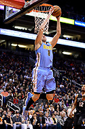 Jan 28, 2017; Phoenix, AZ, USA; Denver Nuggets forward Danilo Gallinari (8) dunks the ball against the Phoenix Suns in the first half of the NBA game at Talking Stick Resort Arena. Mandatory Credit: Jennifer Stewart-USA TODAY Sports