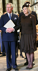Prince of Wales and Camilla, Duchess of Cornwall  at The Queen's Diamond Wedding service held in Westminster Abbey in November 2007.  Photo by: Stephen Lock / i-Images