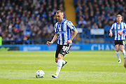 Sheffield Wednesday defender Jack Hunt (32) during the Sky Bet Championship match between Sheffield Wednesday and Cardiff City at Hillsborough, Sheffield, England on 30 April 2016. Photo by Phil Duncan.