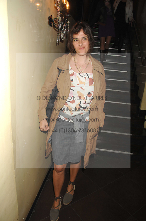 TRACEY EMIN at a party to celebrate the publication of Piers Morgan's book 'Don't You Know Who I Am?' held at Paper, 68 Regent Street, London W1 on 18th April 2007.<br /><br />NON EXCLUSIVE - WORLD RIGHTS