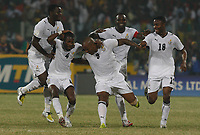 Photo: Steve Bond/Richard Lane Photography.<br />Ghana v Namibia. Africa Cup of Nations. 24/01/2008. Junior Agogo (C) celebrates