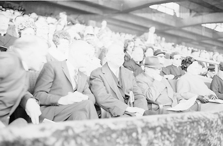 President Eamonn DeValera chats with President of the GAA Mr. Alf Murray and Mr. Martin O'Flathartaigh, secretary at Aras an Uachtarain during the All Ireland Senior Gaelic Football Final Kerry v. Galway in Croke Park on the 26th September 1965. Galway 0-12 Kerry 0-09.