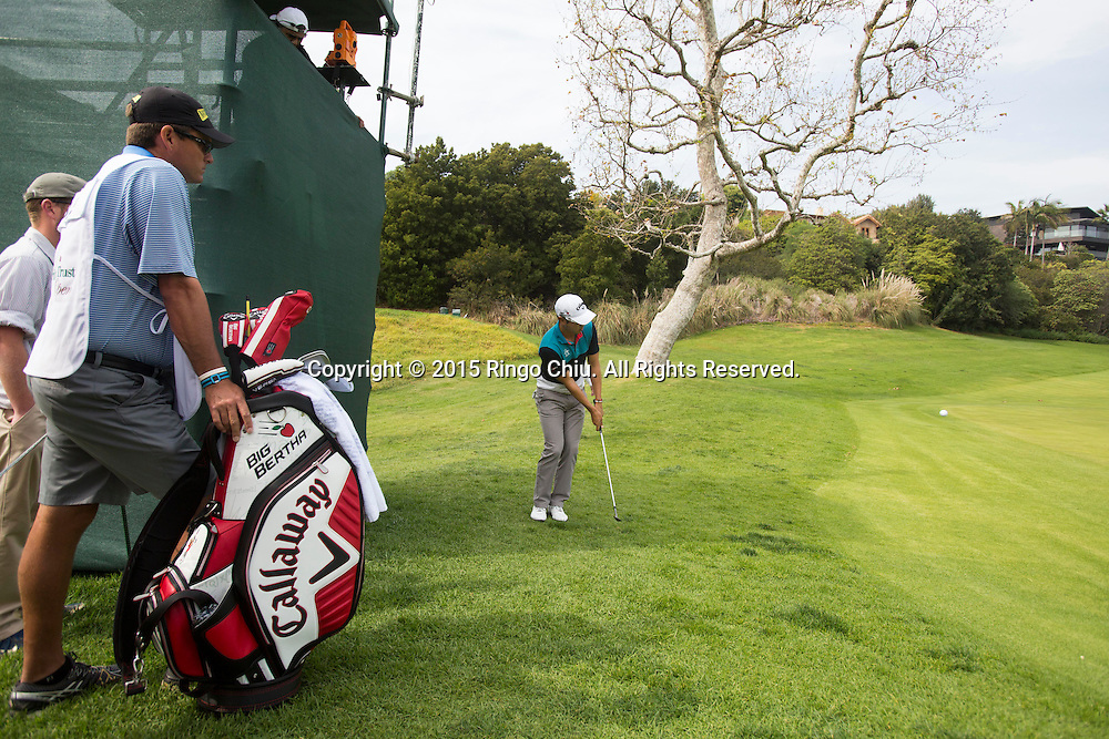 Sang-Moon Bae of South Korea plays in the second round of the Northern Trust Open PGA golf tournament at Riviera Country Club in Los Angeles on Friday, February 20, 2015.(Photo by Ringo Chiu/PHOTOFORMULA.com)
