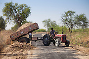 Roadworks in Hindu village of Dhudaly in Rajasthan, Northern India