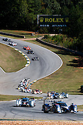 September 30-October 1, 2011: Petit Le Mans. 7 Peugeot Sport Total leads the field at the start of the 2011 Petit Le Mans