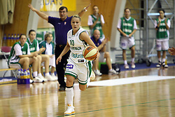 Katarina Ristic at basketball qualification match of women division B  between National teams of Slovenia and Netherlands, on August 27, 2008, in Vitranc Hall, Kranjska Gora. Win of NED 83:81. (Photo by Vid Ponikvar / Sportida)