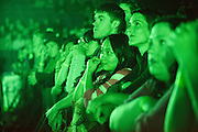 Fans during Radiohead's performance at the Scottrade Center in St. Louis on March 9, 2012.