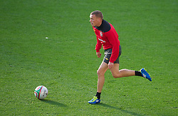 SWANSEA, WALES - Thursday, October 6, 2011: Wales' Craig Bellamy during a training session ahead of the UEFA Euro 2012 Qualifying Group G match against Switzerland at the  Liberty Stadium. (Pic by David Rawcliffe/Propaganda)