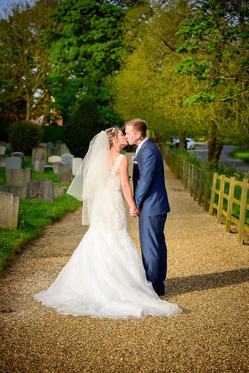 Summer Wedding at St. Peter's Church in Benington, Hertfordshire.