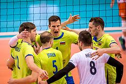 20-05-2018 NED: Netherlands - Slovenia, Doetinchem<br /> First match Golden European League / Team Slovenia celebrate