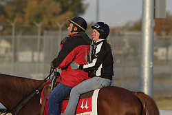 Breeder's Cup 2010 morning workouts at Churchill Donws Monday, Nov. 1, 2010.  Photo by Jonathan Palmer