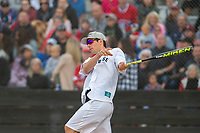 KELOWNA, CANADA - JUNE 28: NHL Montreal Canadiens goalie Carey Price takes a swing during the opening charity game of the Home Base Slo-Pitch Tournament fundraiser for the Kelowna General Hospital Foundation JoeAnna's House on June 28, 2019 at Elk's Stadium in Kelowna, British Columbia, Canada.  (Photo by Marissa Baecker/Shoot the Breeze)