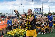 Den Bosch's Maartje Paumen celebrates winning  the final of the EHCC 2017 at Den Bosch HC, The Netherlands, 5th June 2017