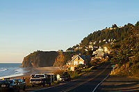 The beautiful cliffside town of Oceanside, OR