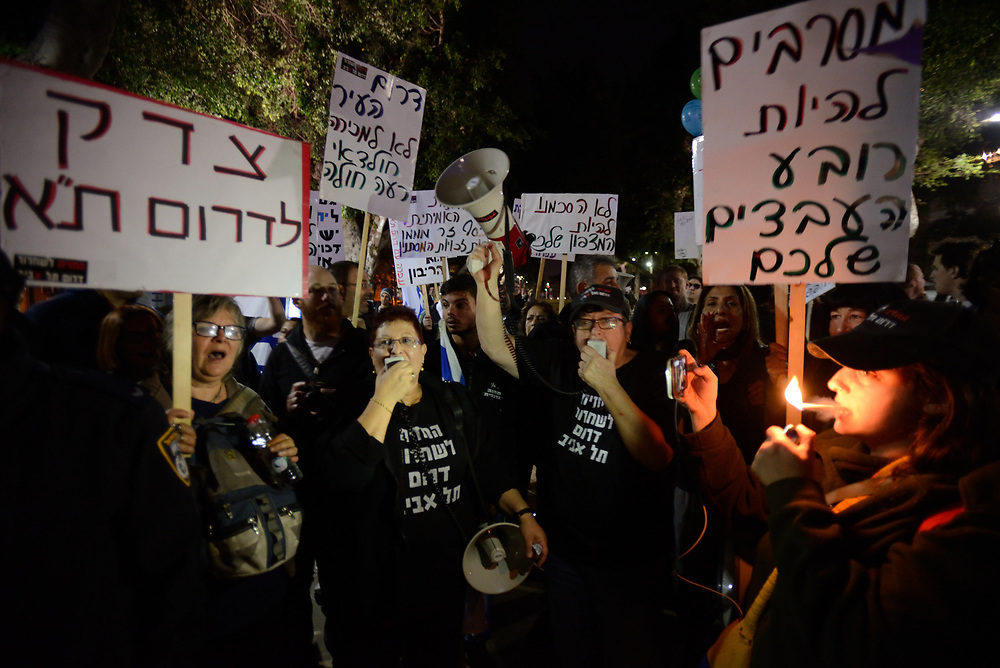 Residents of South Tel Aviv neighborhoods protest against migrants presence in their neighborhoods,  in Tel-Aviv on December 16'th, 2017. Photo by Gili Yaari