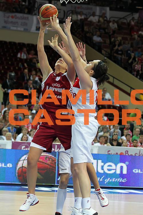 DESCRIZIONE : Katowice Poland Polonia Eurobasket Women 2011 Round 2 Polonia Lettonia Poland Latvia<br /> GIOCATORE : Liene Jansone<br /> SQUADRA : Latvia Lettonia<br /> EVENTO : Eurobasket Women 2011 Campionati Europei Donne 2011<br /> GARA : Polonia Lettonia Poland Latvia<br /> DATA : 22/06/2011<br /> CATEGORIA : <br /> SPORT : Pallacanestro <br /> AUTORE : Agenzia Ciamillo-Castoria/E.Castoria<br /> Galleria : Eurobasket Women 2011<br /> Fotonotizia : Katowice Poland Polonia Eurobasket Women 2011 Round 2 Polonia Lettonia Poland Latvia<br /> Predefinita :