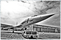 Concorde at London Heathrow. Turbojet-powered supersonic passenger jet that was operated until 2003.