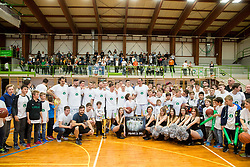 KD Ilirija after basketball match between KD Ilirija and KK Mesarija Prunk Sezana in Last Round of 2. SKL  2016/17, on April 15, 2017 in GIB center, Ljubljana, Slovenia. Photo by Vid Ponikvar / Sportida