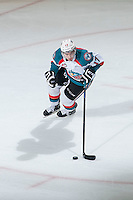 KELOWNA, CANADA - MARCH 27: Rodney Southam #17 of Kelowna Rockets skates with the puck against the Tri-City Americans on March 27, 2015 at Prospera Place in Kelowna, British Columbia, Canada.  (Photo by Marissa Baecker/Shoot the Breeze)  *** Local Caption *** Rodney Southam;
