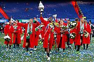 24-04-2016 VOETBAL: KNVB BEKERFINALE FEYENOORD-FC UTRECHT: ROTTERDAM <br /> <br /> Terence Kongolo van Feyenoord met de KNVB beker <br /> <br /> foto: Geert van Erven