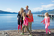 ARGENTINA King Willem-Alexander, Queen Maxima, Princess Amalia, Princess Alexia and Princess Ariane visit during their christmas holiday national park Los Arrayanes in Villa la Angostura, Argentina, 22 December 2014 COPYRIGHT ROBIN UTRECHT