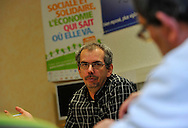11/10/12 - THIERS - PUY DE DOME - FRANCE - Christophe BOREL, ancien salarie des Forges GAUVIN dans les locaux de l association de reinsertion professionnelle PASSERELLE - Photo Jerome CHABANNE pour Le Monde