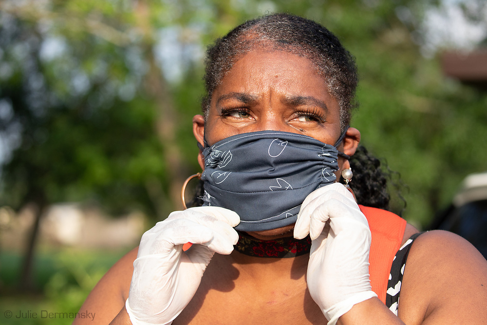 Stephanie Cooper, vice president of RISE St. James, says conversations about racial disparity in the coronavirus's impact often fail to mention the role pollution plays in compromising the health of many African-American communities that are near refineries and chemical plants.