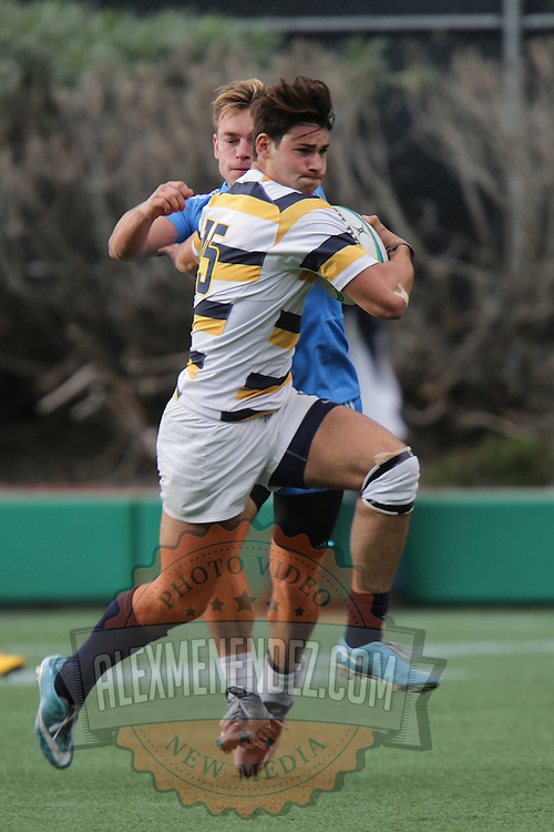 BERKELEY, CA - NOVEMBER 08:  Evan Coleman #15 of California runs with the ball during the PAC Rugby 7's Championship between UCLA and California at Witter Rugby Field at the University of California on November 8, 2015 in Berkeley, California. California won the match by a score of 17-5. (Photo by Alex Menendez/Getty Images) *** Local Caption *** Evan Coleman