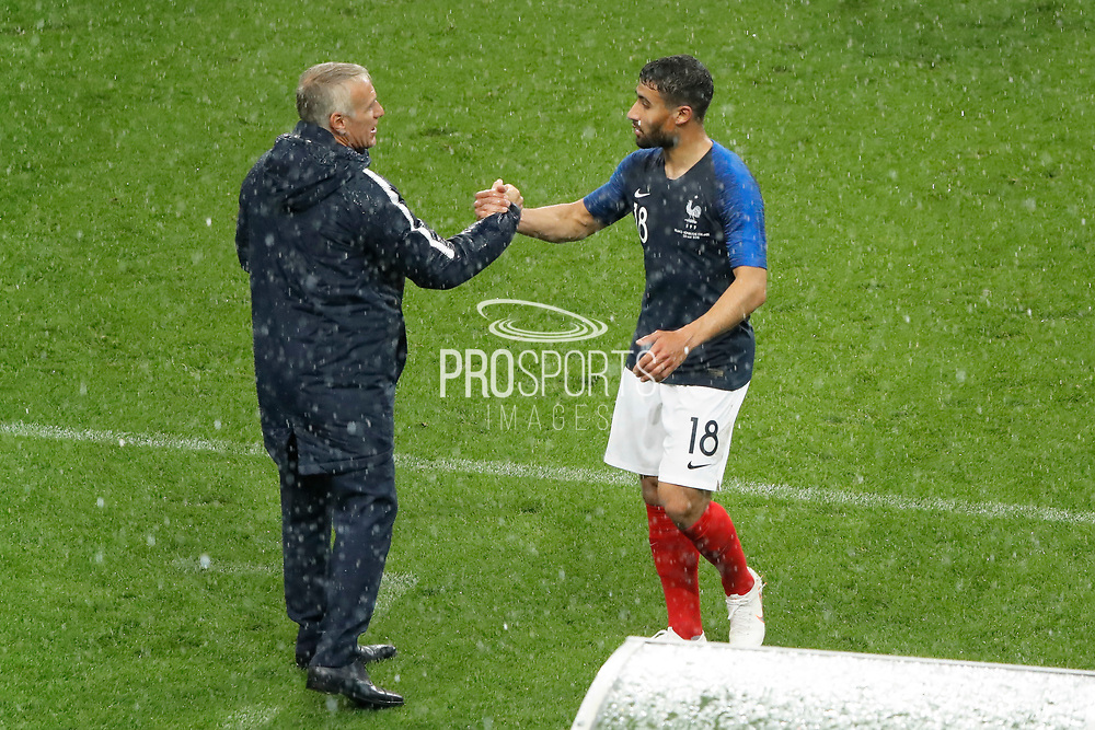 Nabil FEKIR (FRA) and Didier Deschamps (FRA) during the FIFA Friendly Game football match between France and Republic of Ireland on May 28, 2018 at Stade de France in Saint-Denis near Paris, France - Photo Stephane Allaman / ProSportsImages / DPPI