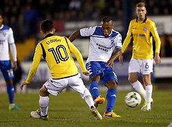 Neil Danns of Bury shoots at goal - Mandatory by-line: Robbie Stephenson/JMP - 24/10/2016 - FOOTBALL - Gigg Lane - Bury, England - Bury v Bolton Wanderers - Sky Bet League One