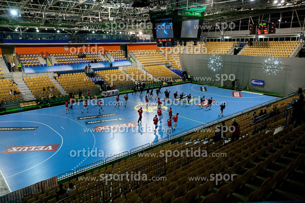 Warming up prior to the handball match between National teams of Slovenia and Portugal in the Qualifications of the EHF EURO 2012, on October 27, 2010 at Arena Zlatorog, Celje, Slovenia. (Photo By Vid Ponikvar / Sportida.com)