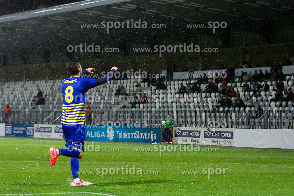 Amar Rahmanovic #8 of FC Luka Koper celebrates goal during football match between FC Luka Koper and NK Krsko in 11th Round of Prva liga Telekom Slovenije 2015/16, on September 23, 2015 in Bonifika, Koper, Slovenia. Photo by Urban Urbanc / Sportida