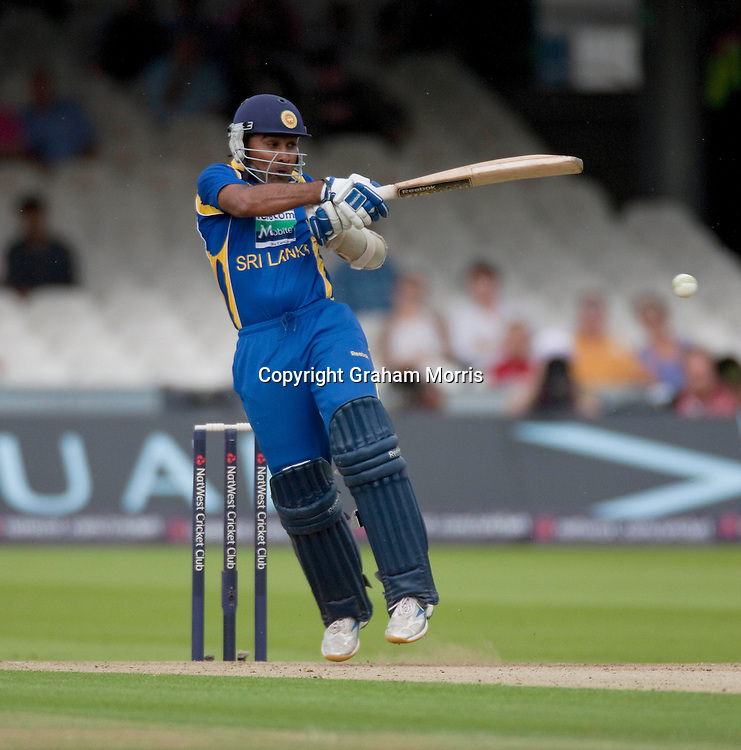 Mahela Jayawardene bats during the third one day international between England and Sri Lanka at Lord's, London. Photo: Graham Morris (Tel: +44(0)20 8969 4192 Email: sales@cricketpix.com) 03/07/11
