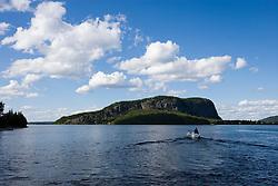 Mount Kineo in Moosehead Lake from Rockwood Landing Maine USA