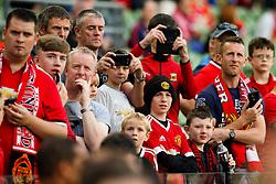 Manchester United fans await the arrival of the players - Mandatory by-line: Matt McNulty/JMP - 02/08/2017 - FOOTBALL - Aviva Stadium - Dublin,  - Manchester United v Sampdoria - Pre-Season friendly