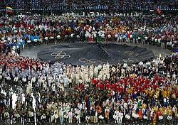 27.07.2012, Olympia Park, London, GBR, Olympia 2012, Eroeffungsfeier, im Bild szene waerend dem Showprogramm // showprogramm during opening ceremony at the 2012 Summer Olympics at Olympic Park London, United Kingdom on 2012/07/27. EXPA Pictures © 2012, PhotoCredit: EXPA/ Johann Groder