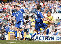 Photo: Mike Greenslade..Cardiff City v Sheffield Wednesday..Coca Cola Championship League..07.04.07..Ninian Park..KO 3pm... Owls striker and goalscorer Leon Clarke gets in an early shot