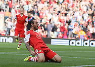 Picture by Paul Terry/Focus Images Ltd +44 7545 642257<br /> 28/09/2013<br /> Dani Osvaldo of Southampton celebrates after scoring the opening goal during the Barclays Premier League match at the St Mary's Stadium, Southampton.