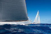 Visione sailing in the St. Barth's Bucket Regatta.