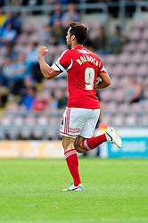 Bristol City's Sam Baldock celebrates his goal.  - Photo mandatory by-line: Dougie Allward/JMP - Tel: Mobile: 07966 386802 11/08/2013 - SPORT - FOOTBALL - Sixfields Stadium - Sixfields Stadium -  Coventry V Bristol City - Sky Bet League One