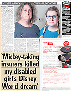 'Mickey-taking insurers killed my disabled girl's Disney World dream'