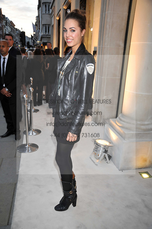 AMBER LE BON at a reception hosted by Vogue and Burberry to celebrate the launch of Fashions Night Out - held at Burberry, 21-23 Bond Street, London on 10th September 2009.